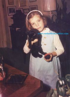 Caroline Kennedy with Tom Kitten outside her father's office.
