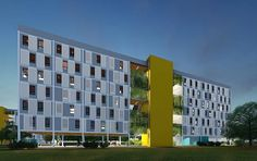 HABITAÇÃO SOCIAL - DF | MoradaVerde arquitetura Children's Place, Multi Story Building, Architecture, Places, Ark, Social Housing, Arquitetura, Study, Perspective