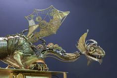 The Sea Dragon on the clock He lives in the deep sea. He is the king and the keeper of time that moves like powerful, slow and implacable waves of the. Steampunk Kunst, Release The Kraken, Sculptures, Lion Sculpture, Sea Dragon, Draw On Photos, Amazing Adventures, Post Apocalyptic, Dieselpunk