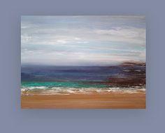 "Abstract Acrylic Painting Fine Original Art on Canvas Titled: STORMY SKIES 30x40x1.5"" by Ora Birenbaum"