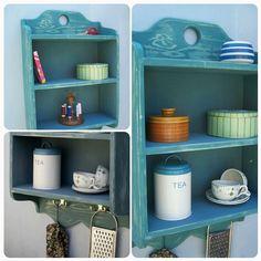 handmade vintage style shelves in chunky by MarcWoodJoinery