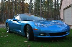 2008 C6 Jetstream Blue Corvette Coupe