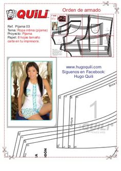 Pijama 02 Madame Gres, Lingerie Patterns, Boxer, Storage, Ladybug, Textiles, Shorts, Vestidos, Greek