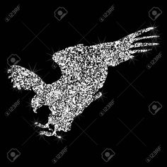 Effect of diamond. Silhouettes of Jewelry eagle. Eagle Icon, Art Designs, Silhouettes, Graphic Art, Silver Jewelry, Diamond, Ideas, Art Projects, Silver Jewellery