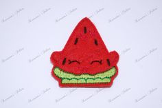 UNCUT Shopkins Watermellon  embroidered felt by Keirstensfelties