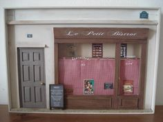 Miniature art French Bistrot Paris Shop front by cinen on Etsy