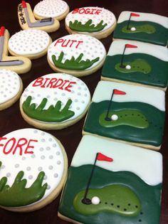 Golf themed cookies 16 cookies by thetalentedcookie on Etsy
