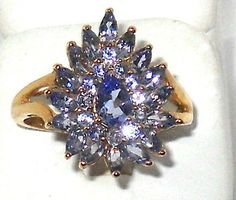 2.00ctw Natural Tanzanite Ring 10k Yellow Gold Size 7 Mother's Day    http://stores.ebay.com/JEWELRY-AND-GIFTS-BY-ALICE-AND-ANN