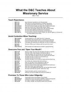 LDS Gospel Freebies: Handouts on Missionary Work