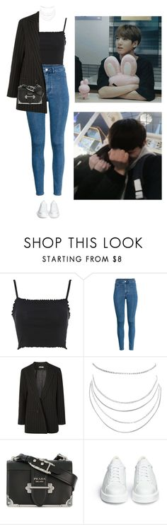 """""""Mall #149 Kook"""" by fadedhuman ❤ liked on Polyvore featuring Topshop, H&M, Ganni, Humble Chic, Prada and Robert Clergerie"""