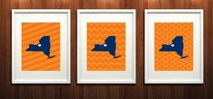 Syracuse New York Set of Three Giclée Prints  8x10  by PaintedPost, $37.00 #paintedpoststudio - Syracuse University - SUNY - Syracuse Orange- What a great and memorable gift for graduation, sorority, hostess, and best friend gifts! Also perfect for dorm decor! :)