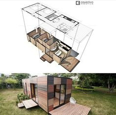 Container Architecture, Eco Architecture, Prefab Homes, Modular Homes, Tiny Mobile House, Tiny House Community, Retreat House, Compact House, Shed Building Plans