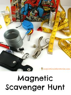 Learn about magnets and go on a magnetic scavenger hunt — great indoor activity for rainy winter days 1st Grade Science, Primary Science, Science Activities For Kids, Preschool Science, Science Experiments Kids, Kindergarten Activities, Stem Activities, Classroom Activities, Physical Science