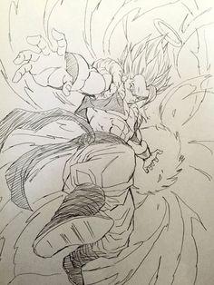 ideas drawing dragon ball z dragonball z Dragon Ball Gt, Dragon Z, Dbz Drawings, Cool Drawings, Tattoo Dragonball, Majin, Dbz Gogeta, Ball Drawing, Goku Drawing