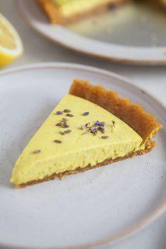 Raw Lemon Lavender Tart / Raw, vegan & gluten-free / Naturally sweetened & packed full of goodness / Goodness is Gorgeous