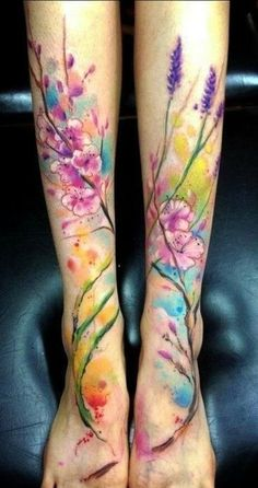 6. #Galaxy - 45 Incredible #Watercolor Tattoos ... → #Beauty #Gorgeous