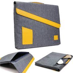 Original Urcover GEARMAX Jeans Style Mac-Book Tasche für Tablets, Laptops und Notebooks 13,3 Zoll / 33,8 cm Macbook Pro Retina, iPad Air, Galaxy Tab, Etui Schutz Hülle Tasche Sleeve Grau 29,90€