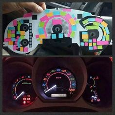 This genius DIY will make your car dashboard lights look so awesome with pretty colors.