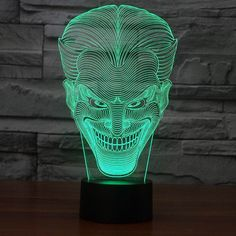 Why So Sad?! Joke!! 3D LED Dimmable Touch USB Lamp!