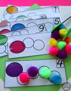This Kindergarten Math Unit 1 Set includes 25 Number Worksheets and 15 Math Centers. Simplify your lesson planning with these fun, hands on activities. Kindergarten Math Activities, Counting Activities, Fun Activities For Kids, Number Activities, Spring Activities, Kindergarten Classroom, Math Games, Preschool Crafts, Literacy