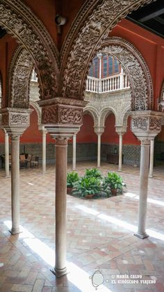 Nos quedaríamos horas mirando el patio de la Casa Salinas (Sevilla)