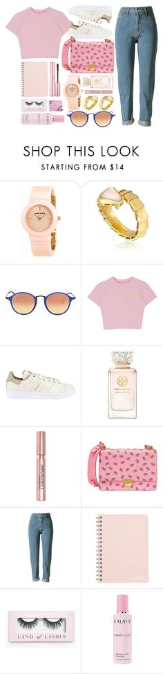 """Promises"" by jomashop ❤ liked on Polyvore featuring Anne Klein, Bulgari, Ray-Ban, adidas Originals, Tory Burch, L'Oréal Paris, Prada, Boohoo, Orlane and Pink"