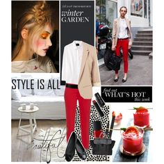 How To Wear Red Pants Outfit Idea 2017 - Fashion Trends Ready To Wear For Plus Size, Curvy Women Over 20, 30, 40, 50