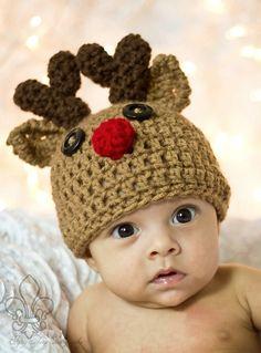 Baby reindeer beanie