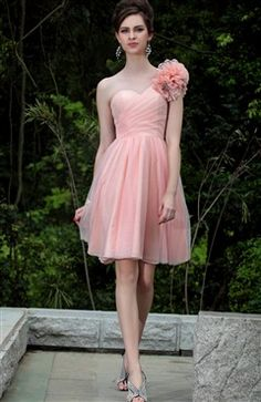 Corsage Glitter Tulle Homecoming Dress