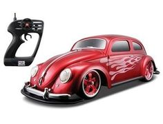 The Maisto RC Volkswagen Beetle - Red in 1/10 scale is a superbly detailed model of this great car. This R/C model car is part of the new R/C range from Maisto. A superb addition to any young driver's collection.