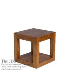 Cubica End Table is simple square side table made of solid teak Java. Buy teak minimalist side table at affordable price by Indonesia skilled craftsman.