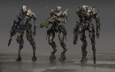 3 bots, Daryl Mandryk on ArtStation at https://www.artstation.com/artwork/42odY