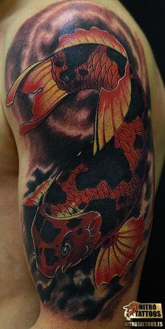 tatuaje brazo pez koi #tatuaje #tatuajes #tattoos #tattoo #nitrotattoos