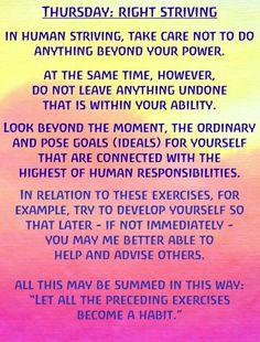Thursday Right Striving