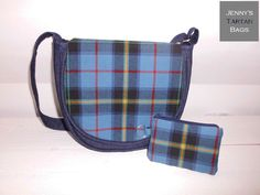 Loch Lomond Millenium tartan saddle bag and key ring purse by Jenny's Tartan Bags