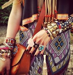 Boho, Bohemian, Gypsy, Hippie, Jewellery, Aztec, Tribal, Style, fashion, look, festival, Trousers