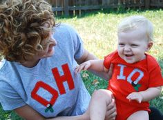 AWWW I'm loving this!!! :):):):):) Mommy and Me OHIO tshirt set great gift for Mother's by twinzzshop, $49.00