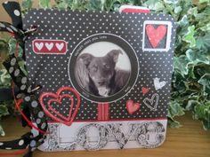 A Valentines Mini Album - Scrapbook.com  This mini album us made with the Bo Bunny Head Over Heels Mini Edgy Album