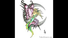 10523-moon-and-fairy-tattoos-free-download-tattoo-22692-star-tattoo ... Star Tattoos, Tribal Tattoos, Fairy, Moon, Stars, Free, The Moon, Sterne, Fairies