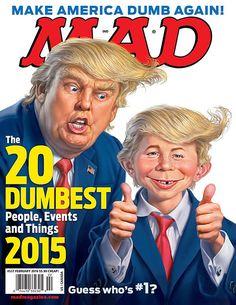 Donald Trump, Robert Durst top MAD Magazine's dumbest people of 2015