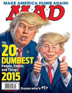Donald Trump, Robert Durst top MAD Magazine's dumbest people of 2015
