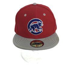 9ee8df89759 Chicago Cubs MLB Baseball Hat Black Red Blue 59 Fifty New Era Wool Blend 7  1 2
