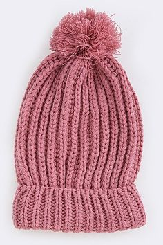 28101ce4eb6 Stephanie Soft Knit Pom Pom Beanie (2 Colors Available) Beanie Mützen