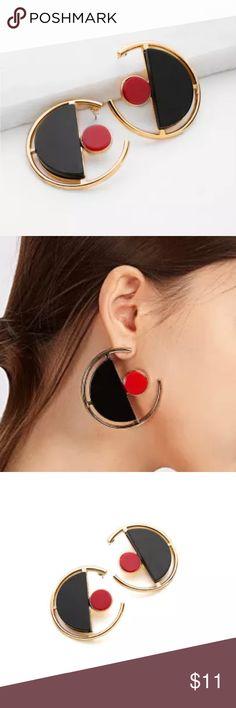 f74e1a1573 Contrast Geometric Cute Earrings Contrast Geometric Cute Earrings Jewelry  Earrings