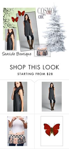 """Tunics And Leggings"" by seaside-boutique ❤ liked on Polyvore featuring Polaroid and Liljebergs"