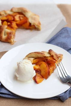 Peach Crostata - The simple ingredients in this recipe create the perfect summer dessert!
