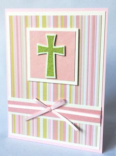 Girl Christening, Baptism, Communion or Confirmation Card- Girl Christening Communion Card-Religious Card-Handmade Blank Card by JennifersCardDesigns on Etsy Confirmation Cards, Baptism Cards, Baby Cards, Kids Cards, Girl Christening, Girl Baptism, Baptism Greetings, First Communion Cards, Washi Tape Cards