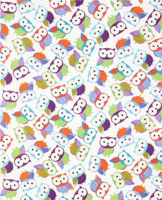 beautiful white owl fabric by Timeless Treasures