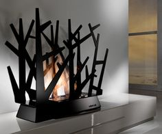 Modern fireplace from Horus -STEELTREE