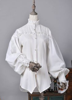 ZJ Story -Formless World- Ouji Lolita Blouse Pretty Outfits, Cool Outfits, Fashion Outfits, Victorian Fashion, Vintage Fashion, Victorian Blouse, Lolita Gothic, Drawing Clothes, Character Outfits